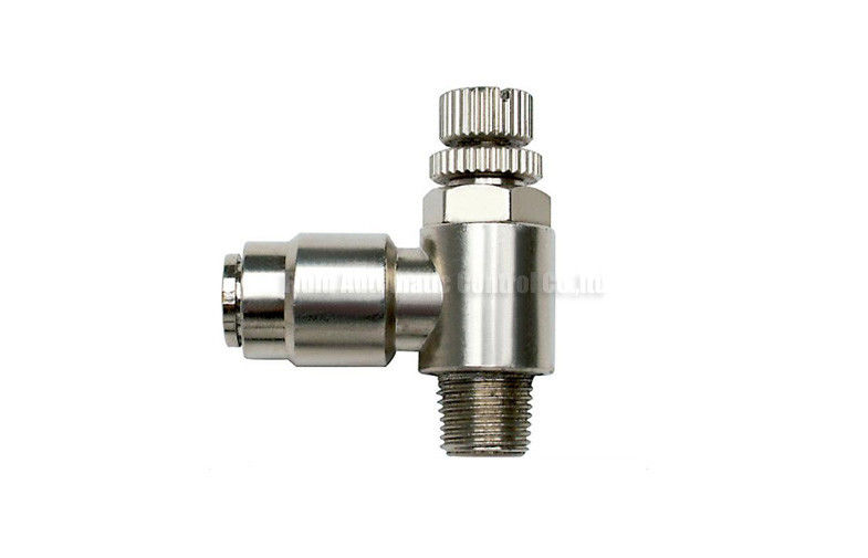 4mm - 16mm Brass One Touch Push-in Fitting Slot Type , Pneumatic Tube Fittings